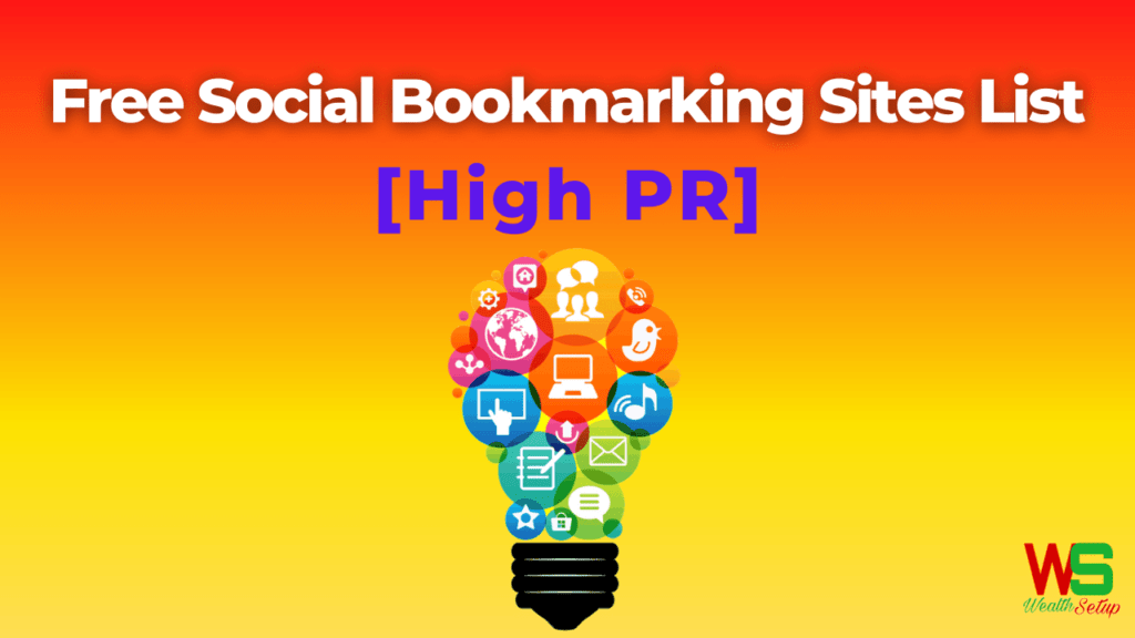 Free Social Bookmarking Sites List With High PR