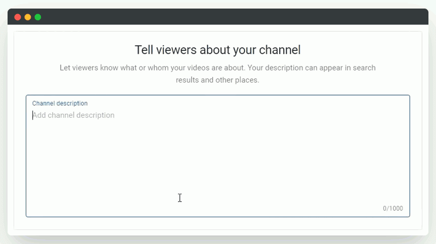 About channel option